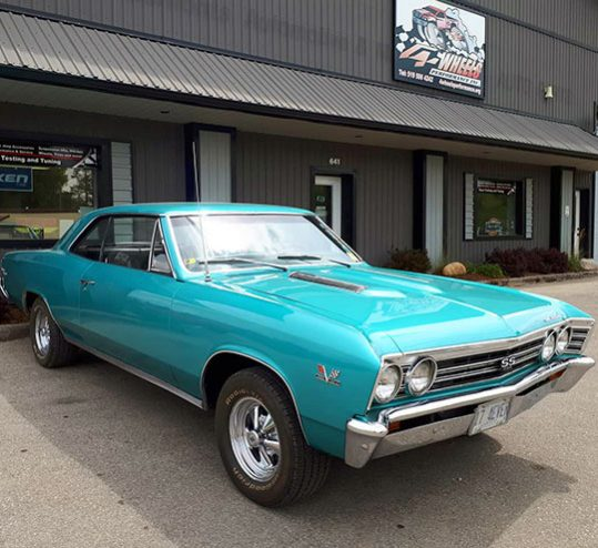 Turquoise Antique Car